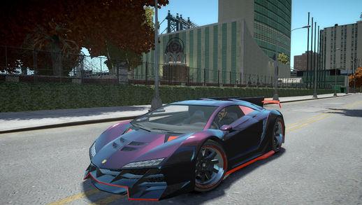 Mod do Pegassi Zentorno para GTA IV