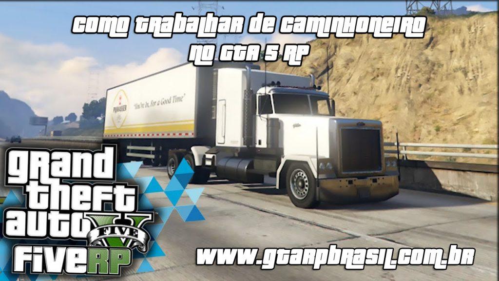 Como trabalhar de caminhoneiro no GTA 5 RP