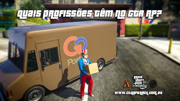 Quais profissões têm no GTA RP?